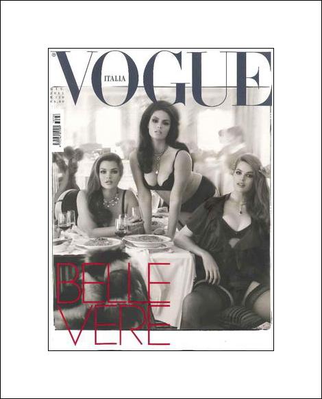 Vogue Italia June 2011 Candice Huffine, Tara-Lynn & Robyn by Steven Meisel