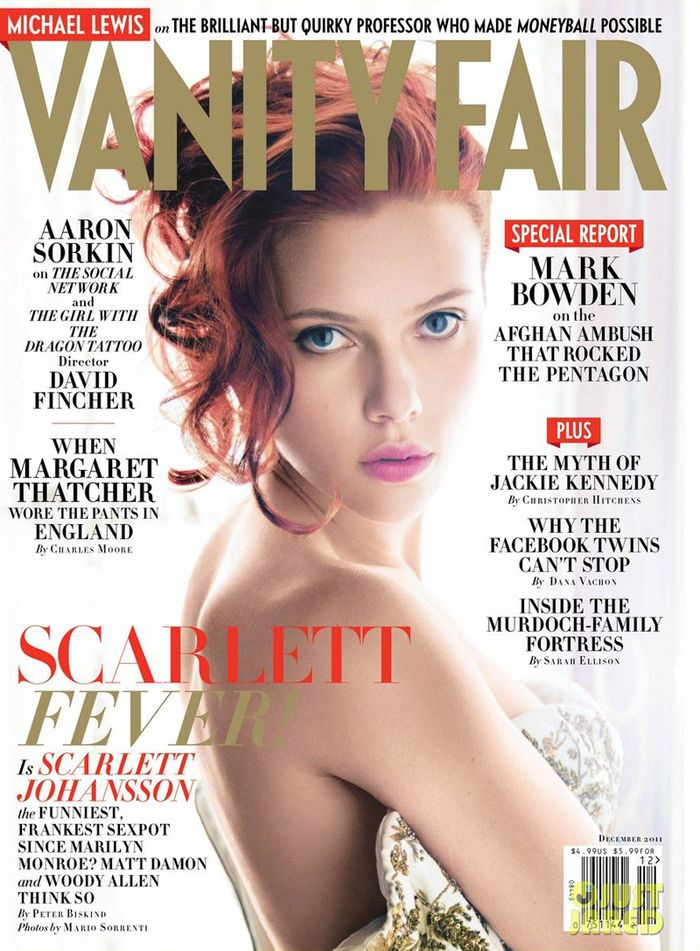 Vanity Fair December 2011 Scarlett Johansson by Mario Sorrenti